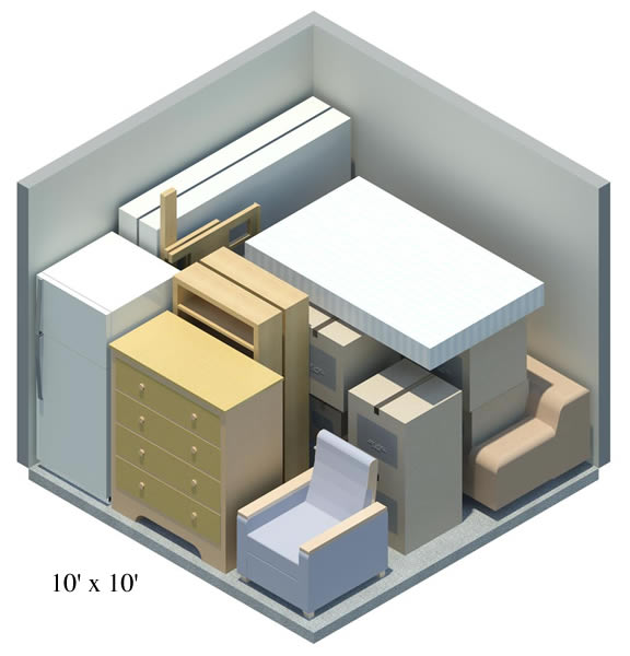 Lock n roll storage storage building size guide for 10x10 square feet